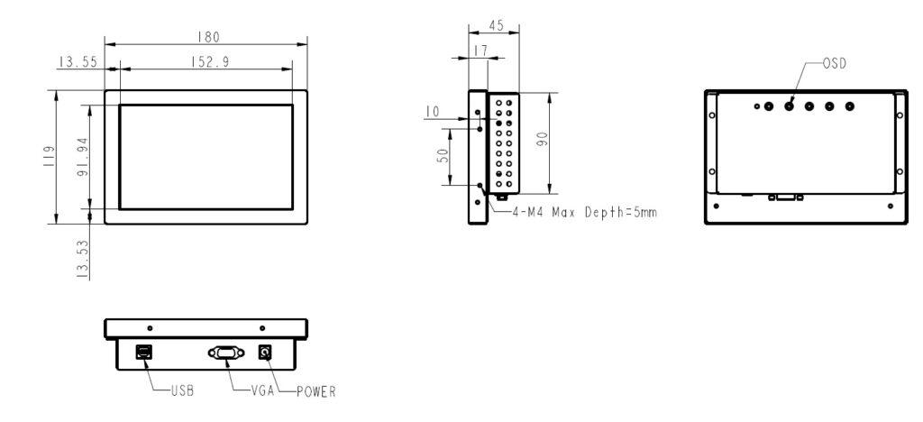 【7型】組込・抵抗膜方式「15OTL-070」